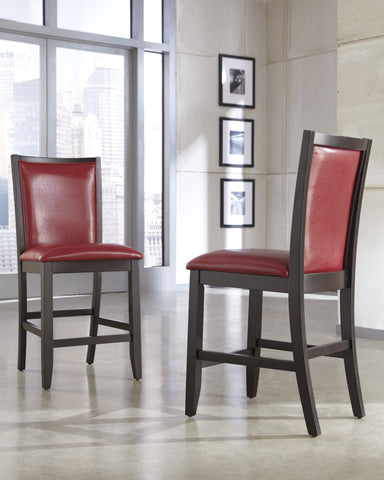 Trishelle Red UPH Counter Height Stool (Set of 2)