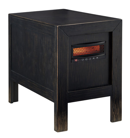 Gavelston Chair Side End Table w/ Infrared Heater