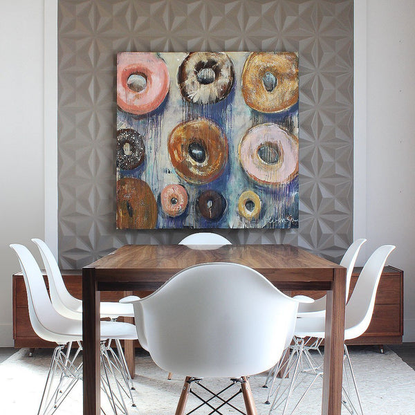 Facet Wall Flats Dining Room Feature Wall | Inhabit