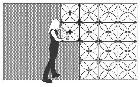 How to Install 3D Wall Panels | Step 3 Installing 3D Wall Panels | Inhabit Wall Flats