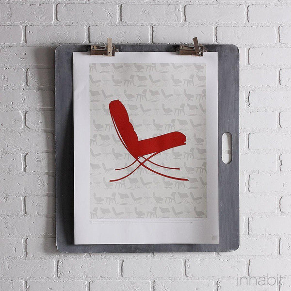 "1929 in Soy & Scarlet Print - 18"" x24""- Art Prints - Inhabitliving.com - Inhabit - 1"
