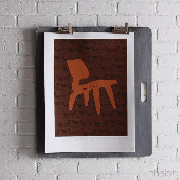 "1946 in Rust & Chocolate Print - 18"" x24""- Art Prints - Inhabitliving.com - Inhabit - 1"