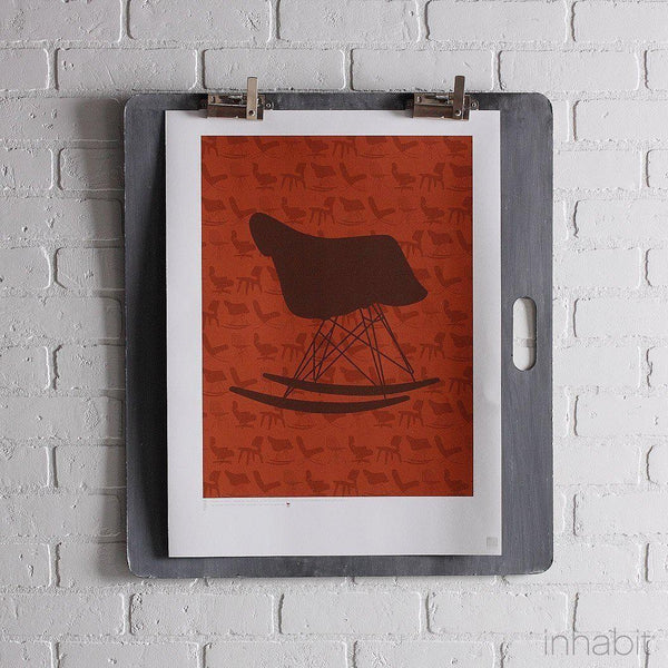 "1948 in Rust & Chocolate Print - 18"" x24""- Art Prints - Inhabitliving.com - Inhabit - 1"