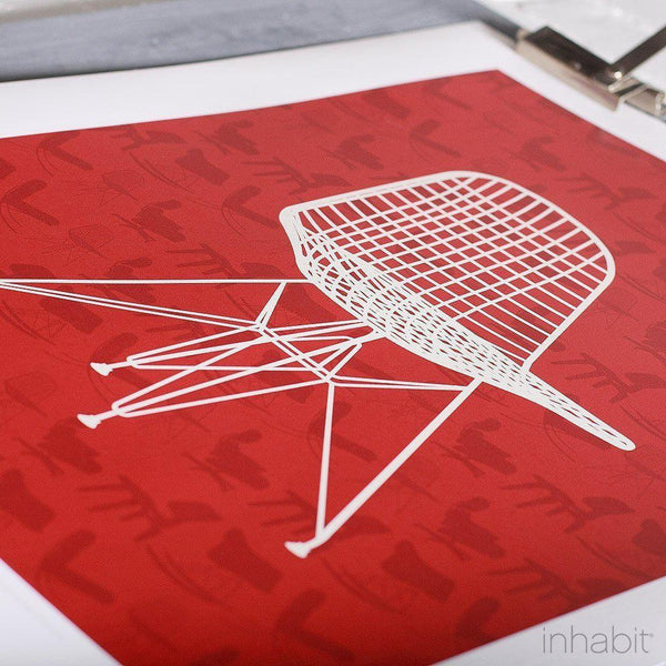 1951 in Scarlet Print - - Art Prints - Inhabitliving.com - Inhabit - 2