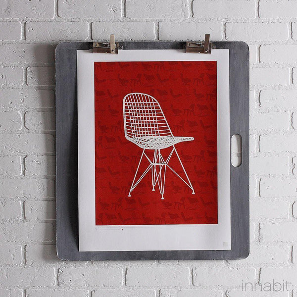 "1951 in Scarlet Print - 18"" x24""- Art Prints - Inhabitliving.com - Inhabit - 1"