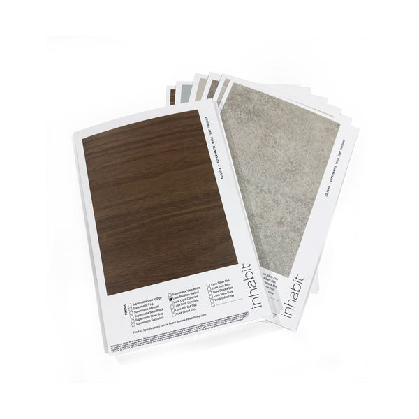 Luxe Supermatte Wall Flats - 3D Wall Panels - 3D Luxe + Supermatte Wall Flats - Color Samples - 1 - Inhabit