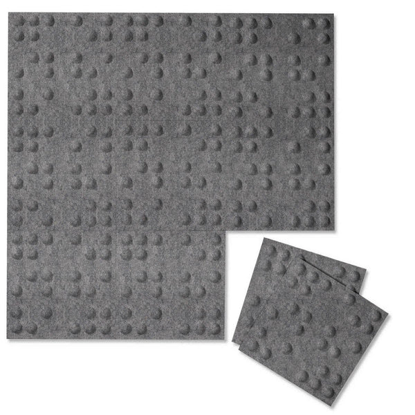 Braille 3D PET Felt Wall Flats-Felt Wall Flats-Inhabit