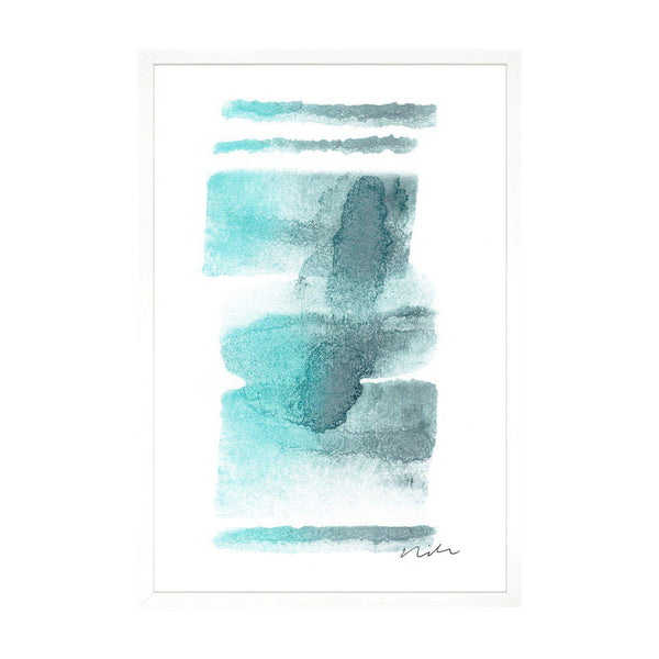 Daydream in Aqua 2 Framed Gallery Wrapped Canvas-Canvas-Inhabit