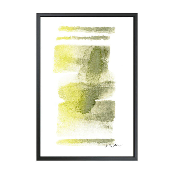 Daydream in Moss & Yellow 2 Framed Gallery Wrapped Canvas-Canvas-Inhabit