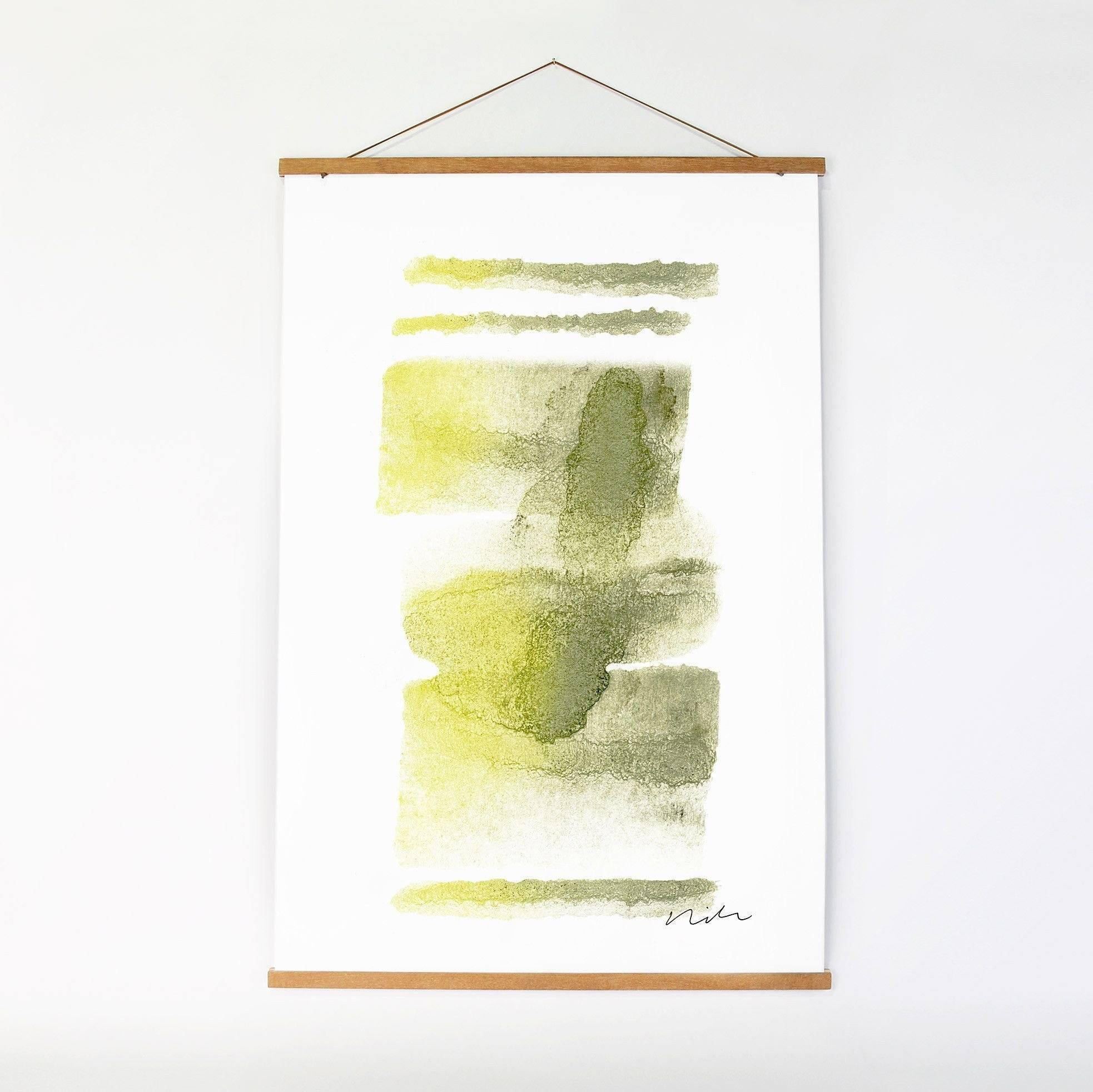 Modern Wall Art | 3D Wall Panels | Daydream in Moss & Yellow 1 Art ...