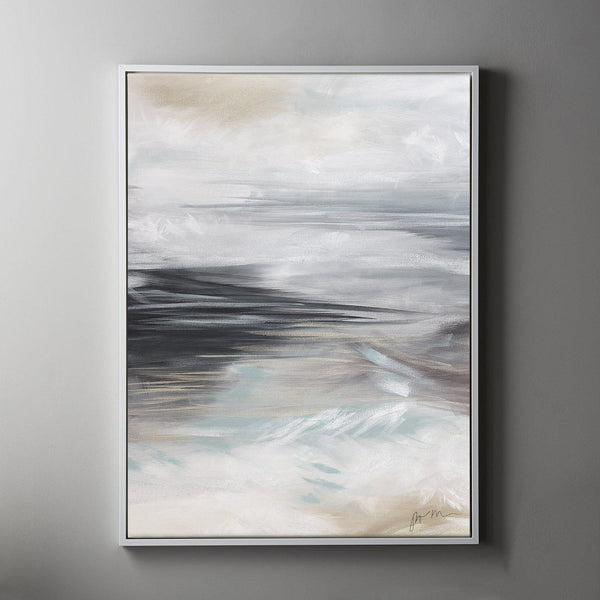 Swell #1 Framed Painted Canvas-Canvas-Inhabit