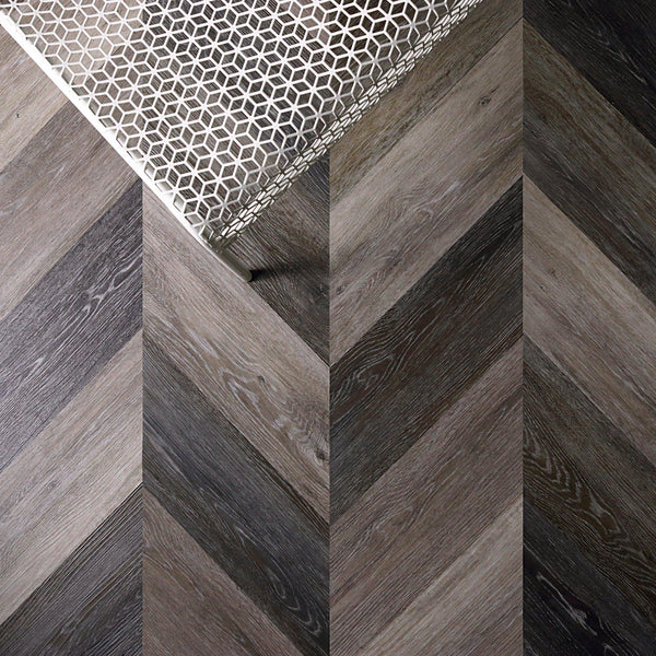 Gray Washed Oak Peel + Stick Wood Look Herringbone Variplanks-Variplank-Inhabit
