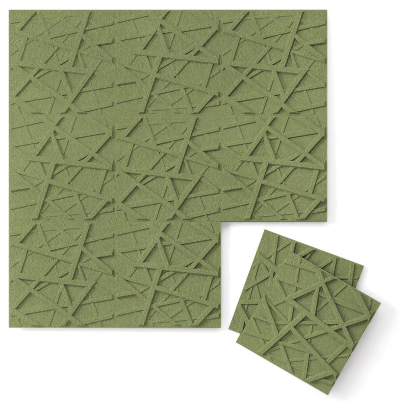 Felt 3D Wall Flats - Acoustic Panels - Hatch 3D PET Felt Wall Flats - 10 - Inhabit