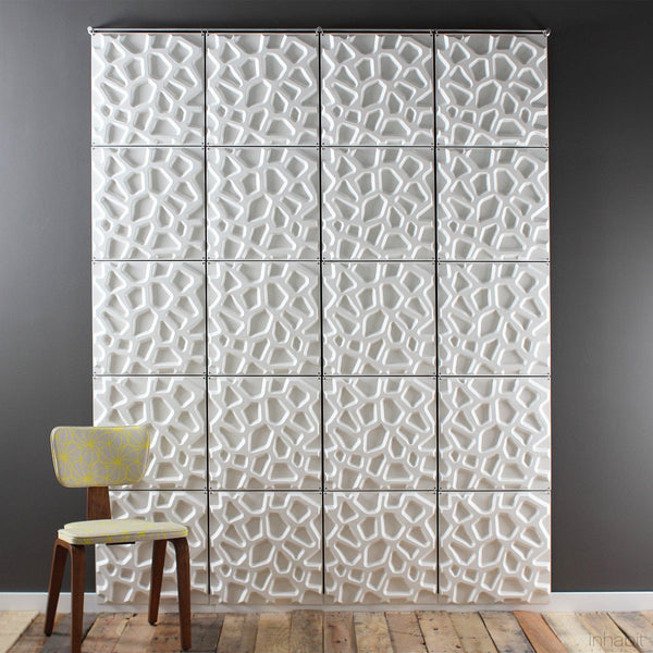 Hive Hanging Wall Flat System - 3D Wall Panels - Box of 10 Ready to Hang Panels- Hanging Wall Flat Systems - Inhabitliving.com - Inhabit - 1