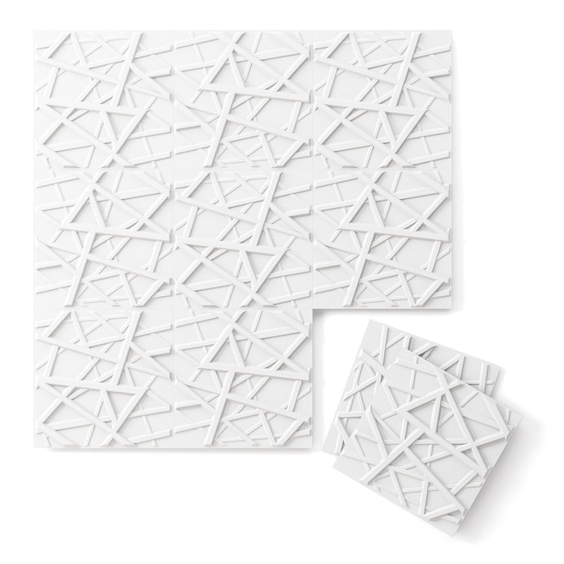 Wall Flats - 3D Wall Panels - Wall Flat Samples - Paint Ready 3D Wall Panels - 14 - Inhabit