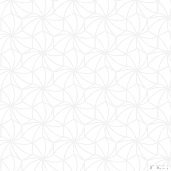 Kaleidoscope Wallpaper in White & Very Light Gray - Sample - Residential- Wallpaper - Inhabitliving.com - Inhabit - 2