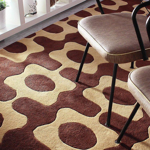 "Laugh in Chocolate & Amber Hand-Tufted Wool Area Rug - 5 'x 7'6""- Wool Area Rugs - Inhabitliving.com - Inhabit - 2"