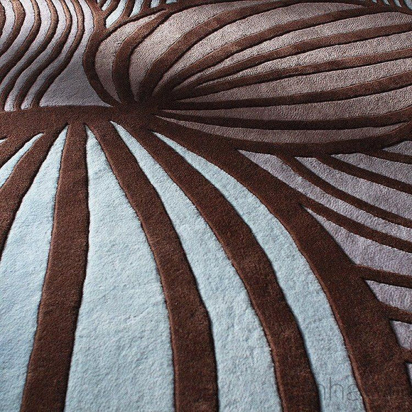 "Leaf in Fossil & Glacier Hand-Tufted Wool Area Rug - 5 'x 7'6""- Wool Area Rugs - Inhabitliving.com - Inhabit - 1"