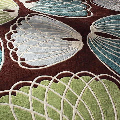 Seedling in Summer Grass Blue Hand-Tufted Wool Area Rug