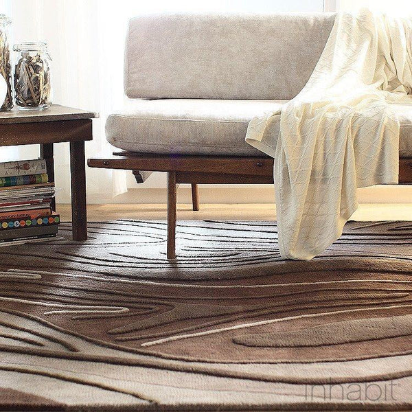 Madera in Chocolate Hand-Tufted Wool Area Rug - - Wool Area Rugs - Inhabitliving.com - Inhabit - 1