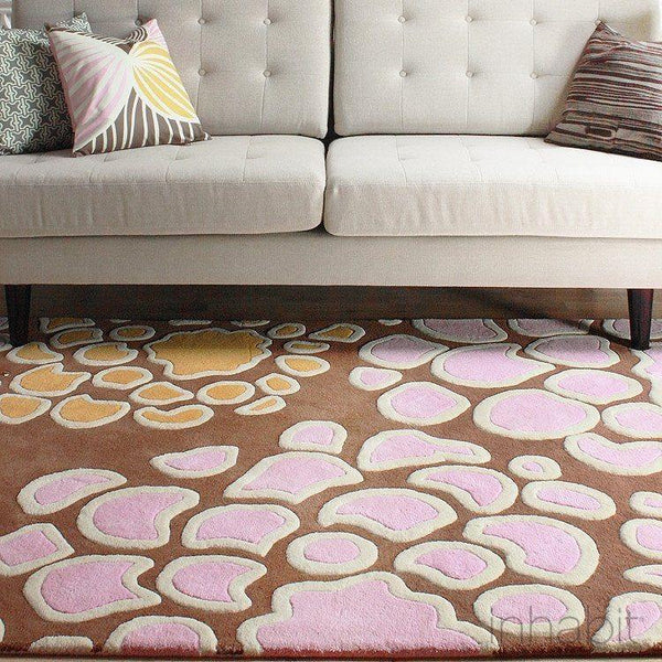 "Mum in Blush & Sunshine Hand-Tufted Wool Area Rug - 5 'x 7'6""- Wool Area Rugs - Inhabitliving.com - Inhabit - 1"