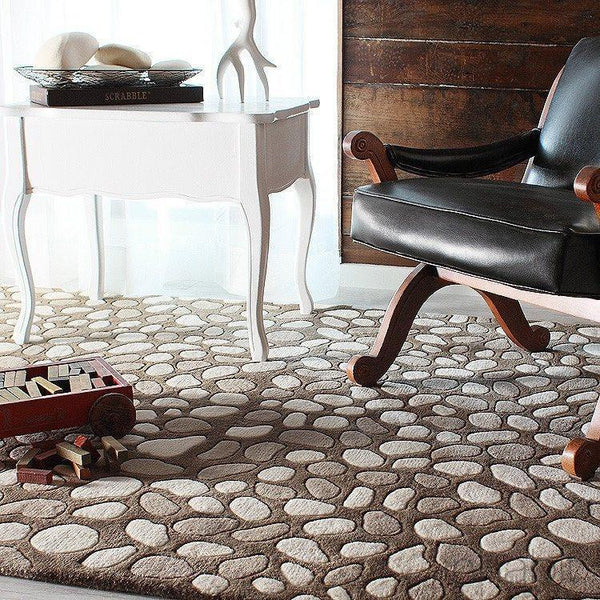 "Pumice Stone in Natural Hand-Tufted Wool Area Rug - 5 'x 7'6""- Wool Area Rugs - Inhabitliving.com - Inhabit - 2"