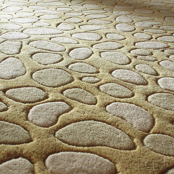 "Pumice Stone in Sand Hand-Tufted Wool Area Rug - 5 'x 7'6""- Wool Area Rugs - Inhabitliving.com - Inhabit - 2"