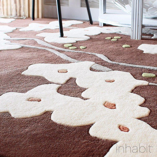 "Pyrus in Chocolate & Soy Hand-Tufted Wool Area Rug - 5 'x 7'6""- Wool Area Rugs - Inhabitliving.com - Inhabit - 2"