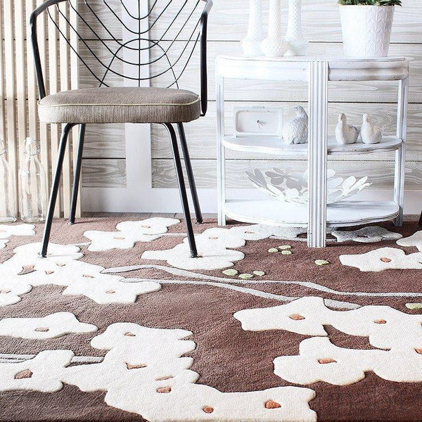 "Pyrus in Chocolate & Soy Hand-Tufted Wool Area Rug - 18""x18"" Sample- Wool Area Rugs - Inhabitliving.com - Inhabit - 1"