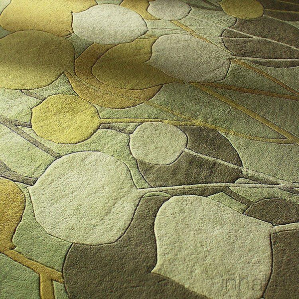 "Seedling in Summer Grass Blue Hand-Tufted Wool Area Rug - 7'9"" x 10'6""- Wool Area Rugs - Inhabitliving.com - Inhabit - 2"