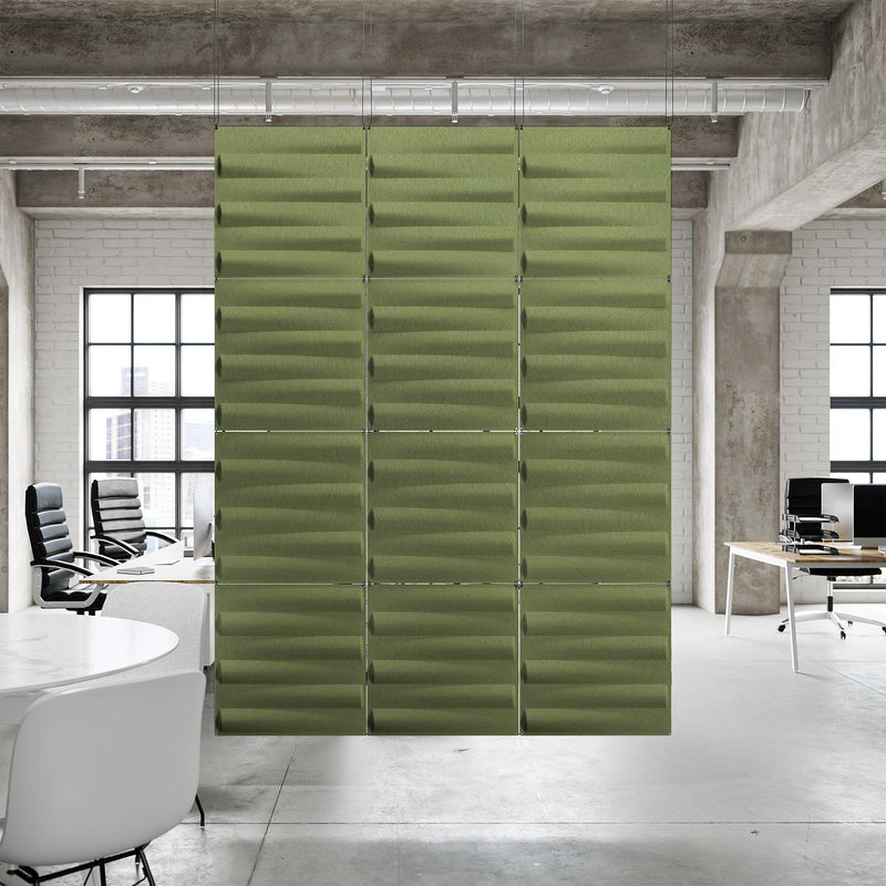 Acoustic Hanging Wall Panel | Room Divider - Seesaw 3D PET Felt Hanging Wall Flat System - 10 - Inhabit