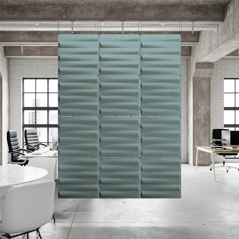 Acoustic Hanging Wall Panel | Room Divider - Seesaw 3D PET Felt Hanging Wall Flat System - 7 - Inhabit