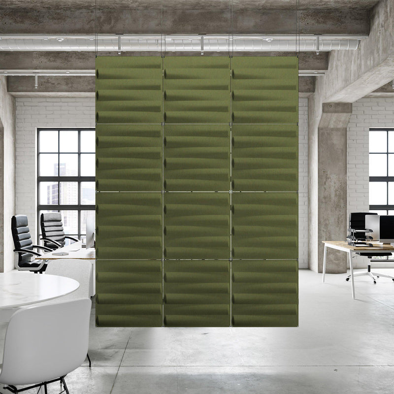 Acoustic Hanging Wall Panel | Room Divider - Seesaw 3D PET Felt Hanging Wall Flat System - 6 - Inhabit