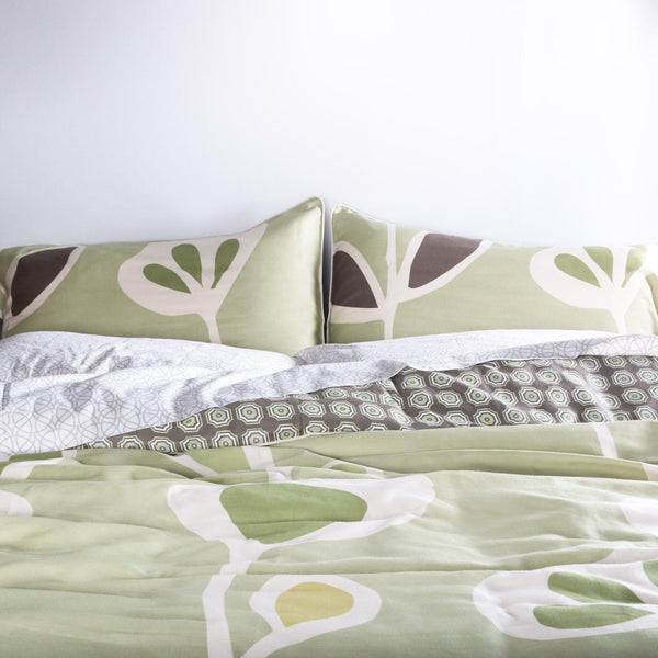 Stencil Duvet Cover + Sham Set-Bedding-Inhabit