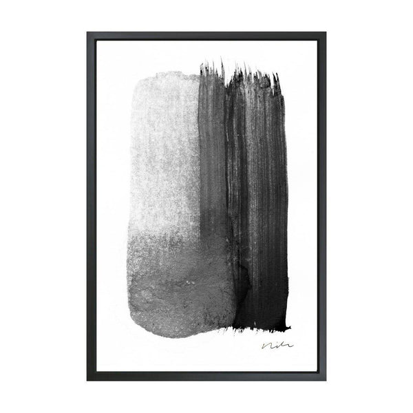 Stroke in Black & White 2 Framed Art Canvas-Canvas-Inhabit