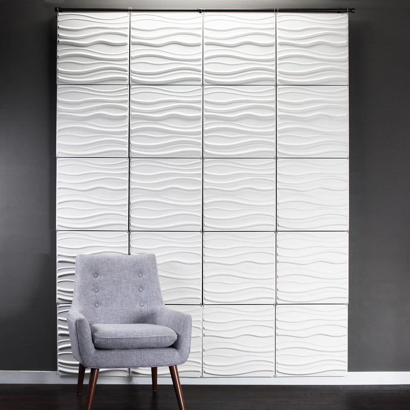 Tierra Paintable Hanging Wall Flat System - 3D Wall Panels-Hanging Wall Flat Systems-Inhabit