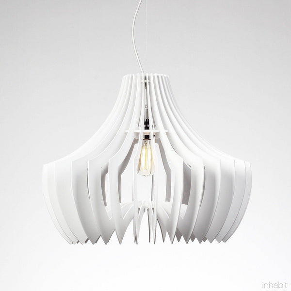Adler White Sculptural Pendant Light - Corrulight Ceiling Lighting - 1 - Inhabit