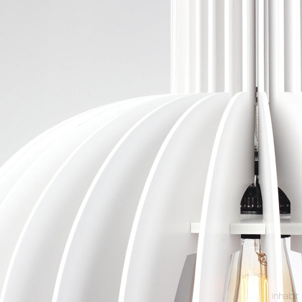 Amien White Sculptural Pendant Light - Corrulight Ceiling Lighting - 2 - Inhabit