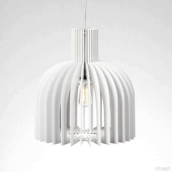 Amien White Sculptural Pendant Light - Corrulight Ceiling Lighting - 1 - Inhabit