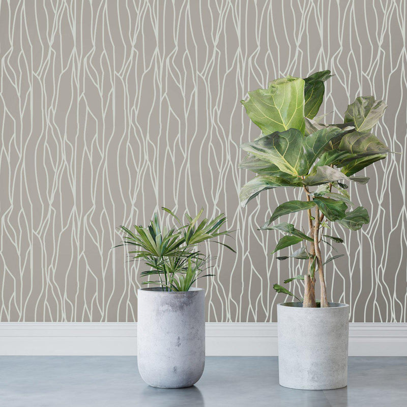 Wallpaper - Peel and Stick Wallpaper - Commercial Wallpaper - Bark Bespoke Wallpaper - 1 - Inhabit