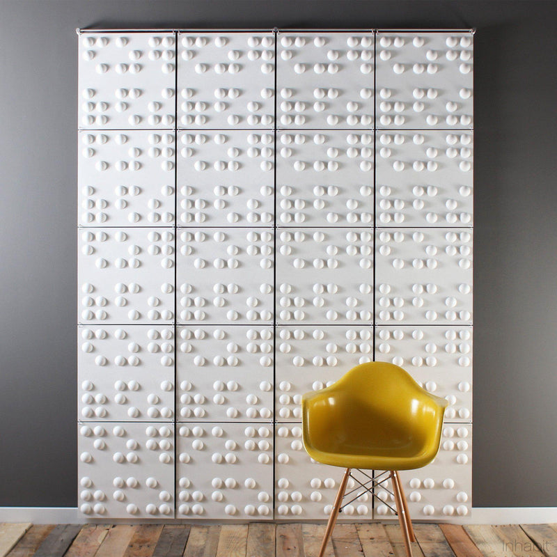 Hanging Wall Flat Systems - Braille Hanging Paintable Wall Flat System - 3D Wall Panels - 3 - Inhabit