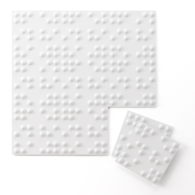 Wall Flats - 3D Wall Panels - Braille 3D Wall Flats - 2 - Inhabit