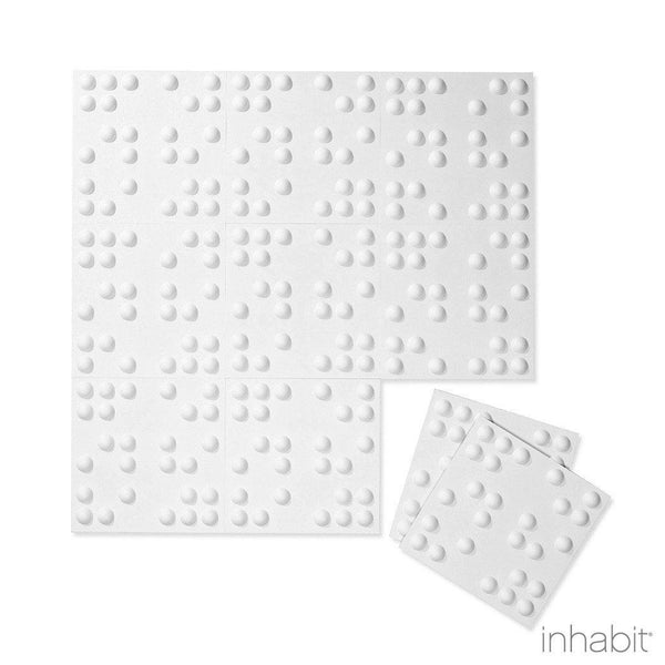 Braille Wall Flats - 3D Wall Panels - Sample Panel- Wall Flats - 3D Wall Panels - Inhabitliving.com - Inhabit - 2
