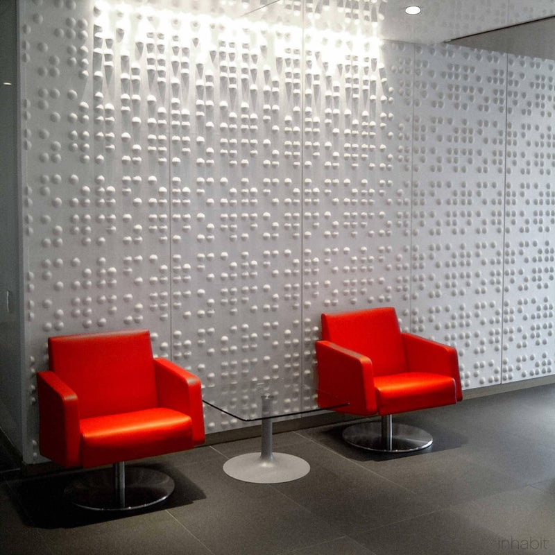 Braille Wall Flats - 3D Wall Panels-Wall Flats - 3D Wall Panels-Inhabit