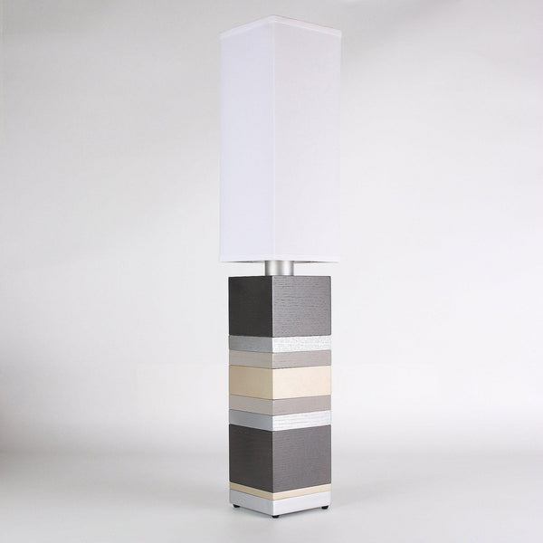Builtby Table Lamps - Builtby Stack Table Lamp in Pewter - 1 - Inhabit
