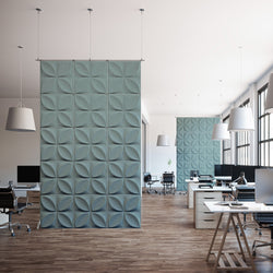 Acoustic Hanging Wall Panel | Room Divider - Chrysalis 3D PET Felt Hanging Wall Flat System - 1 - Inhabit