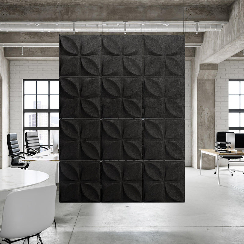 Acoustic Hanging Wall Panel | Room Divider - Chrysalis 3D PET Felt Hanging Wall Flat System - 6 - Inhabit