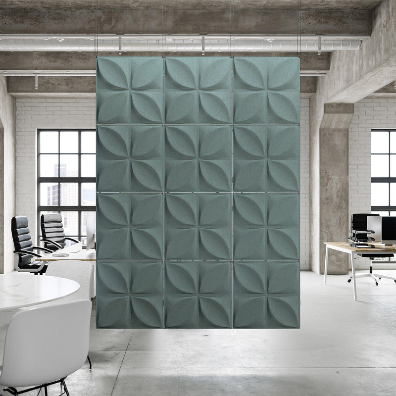 Acoustic Hanging Wall Panel | Room Divider - Chrysalis 3D PET Felt Hanging Wall Flat System - 8 - Inhabit