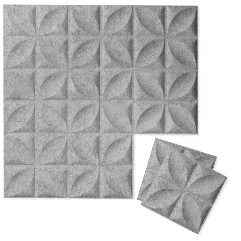 Felt 3D Wall Flats - Acoustic Panels - Chrysalis 3D Wool Felt Wall Flats - 1 - Inhabit