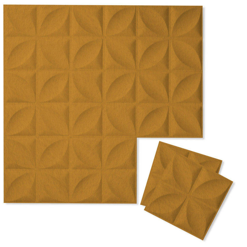 Felt 3D Wall Flats - Acoustic Panels - Chrysalis 3D Wool Felt Wall Flats - 8 - Inhabit